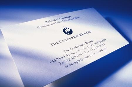 2. The Conference Board business card system