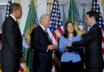 86. Geithner was sworn in as Treasury Secretary on January 26, 2009