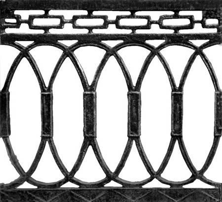 2.4 чугунный забор - художественное литье