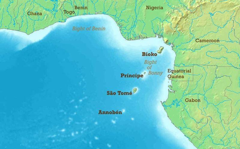 22 карта гвинейского залива