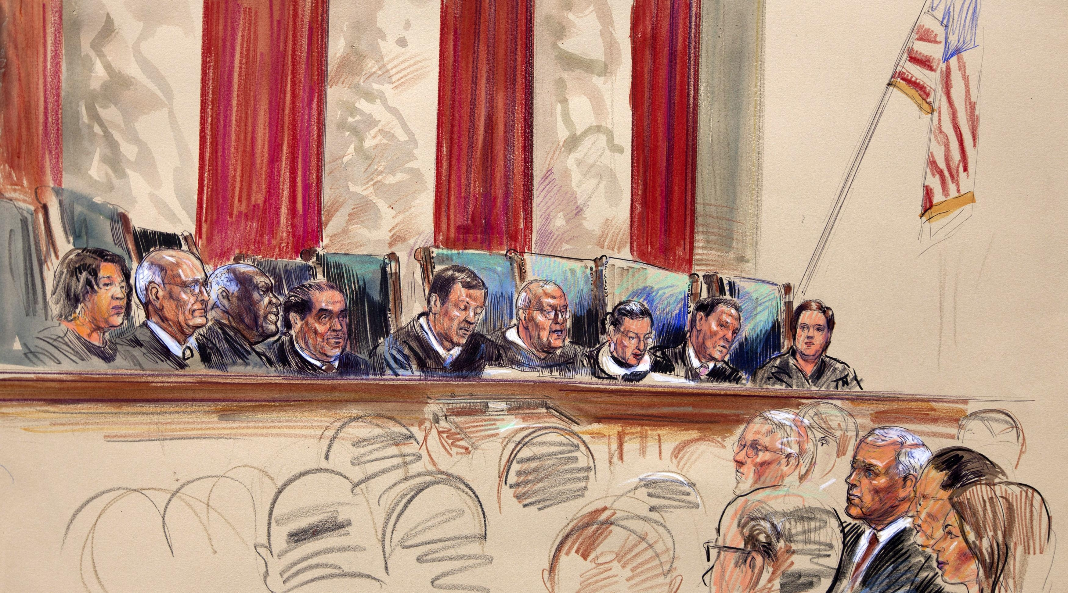 Кто рисует в судах америки