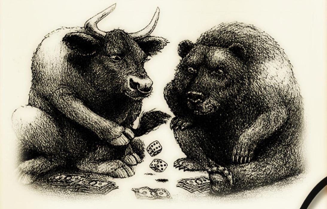 картинки бык и медведь тупой