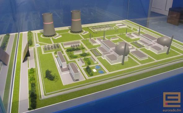 Макет беларуской АЭС