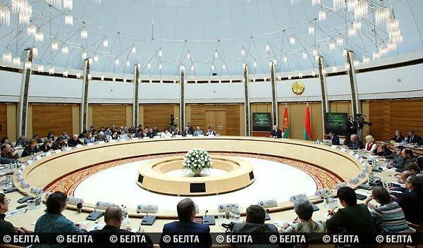Собрание с Лукашенко в овальном зале