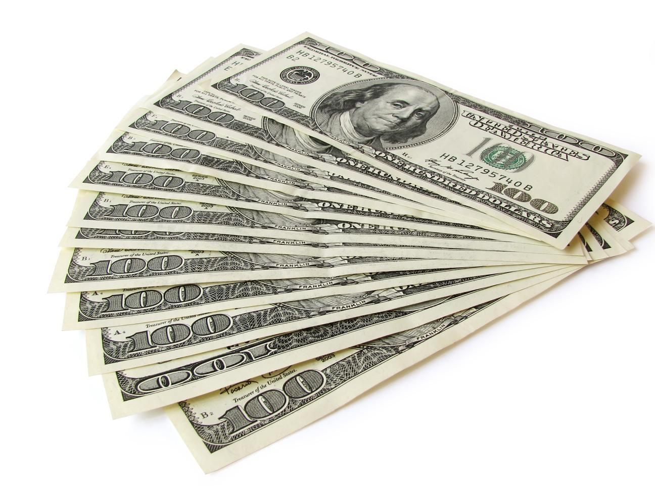 Картинки долларов на белом фоне