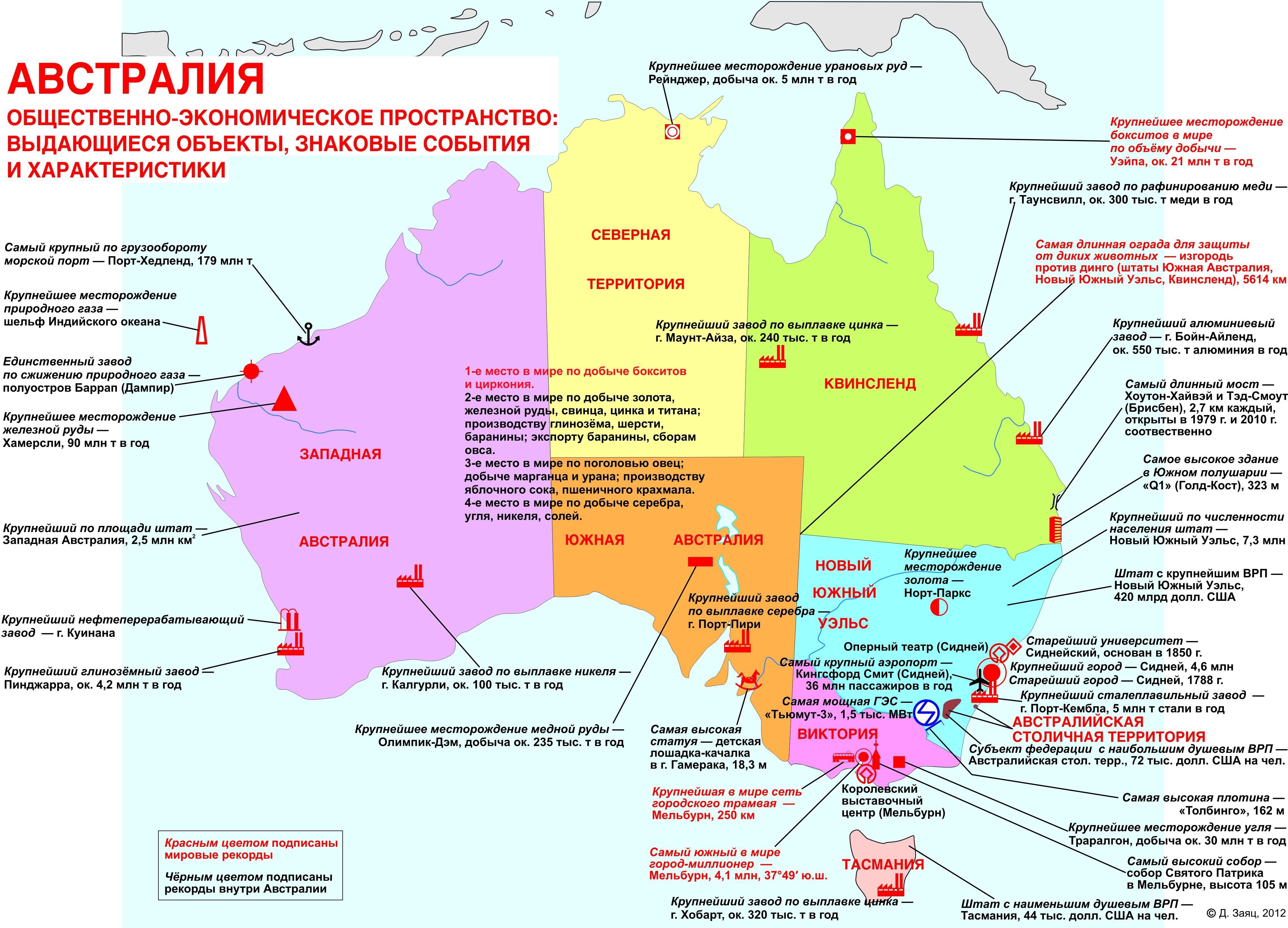 Экономические зоны австралийского
