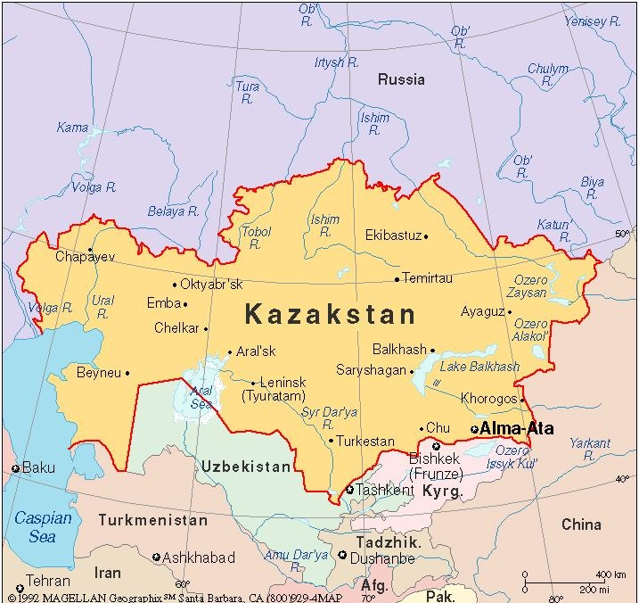 картинки карта мира казахстан