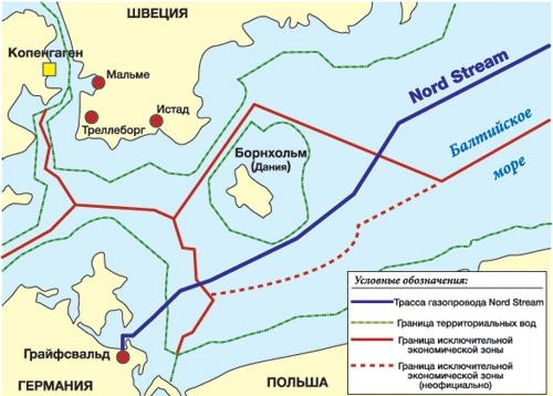 Карта-схема прокладки